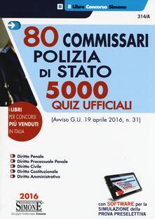 Promoartpalermo.it 80 commissari polizia di stato. 5000 quiz ufficiali. Con software di simulazione Image