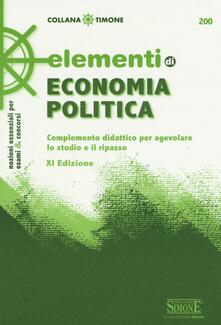 Elementi di economia politica. Complemento didattico per agevolare lo studio e il ripasso.pdf