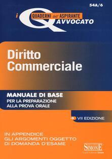 Cocktaillab.it Diritto commerciale. Manuale di base per la preparazione alla prova orale Image