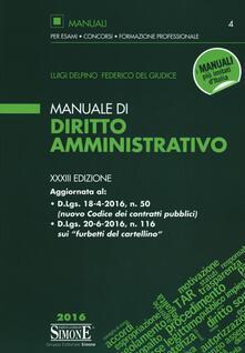 Filmarelalterita.it Manuale di diritto amministrativo. Con aggiornamento online Image