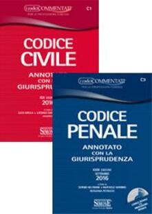 Cocktaillab.it Codice civile-Codice penale. Annotati con la giurisprudenza. Con appendice di aggiornamento. Con CD-ROM Image
