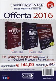 Voluntariadobaleares2014.es Codice di procedura civile-Codice di procedura penale. Annotati con la giurisprudenza 2016. Con CD-ROM Image