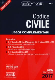 Milanospringparade.it Codice civile. Leggi complementari. Con Contenuto digitale per download e accesso on line Image
