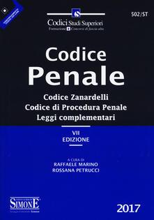 Winniearcher.com Codice penale. Codice Zanardelli. Codice di procedura penale. Leggi complementari. Con aggiornamento online Image