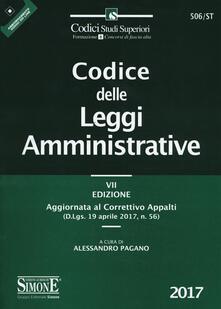 Winniearcher.com Codice delle leggi amministrative. Aggiornato al correttivo appalti (D.Lgs. 19 aprile 2017, n. 56) Image