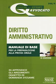Capturtokyoedition.it Diritto amministrativo. Manuale di base per la preparazione alla prova orale Image