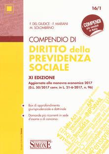 Letterarioprimopiano.it Compendio di diritto della previdenza sociale Image