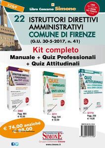 Kit completo 22 Istruttori amministrativi Comune di Firenze: Manuale-Quiz professionali-Quiz attitudinali