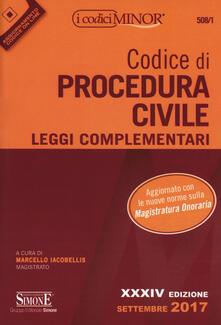 Milanospringparade.it Codice di procedura civile. Leggi complementari. Ediz. minor. Con Aggiornamento online Image