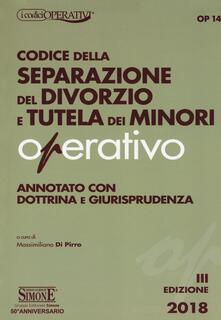 Premioquesti.it Codice della separazione del divorzio e tutela dei minori operativo. Annotato con dottrina e giurisprudenza Image