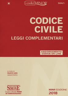 Codice civile. Leggi complementari. Con Contenuto digitale per download e accesso on line.pdf