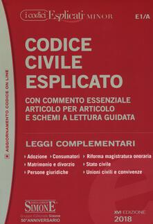 Codice civile esplicato. Con commento essenziale articolo per articolo e schemi a lettura guidata. Leggi complementari.pdf