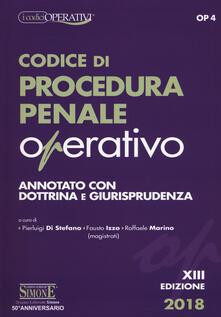 Codice di procedura penale operativo. Annotato con dottrina e giurisprudenza - copertina