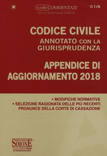 Grandtoureventi.it Codice civile annotato con la giurisprudenza. Appendice di aggiornamento 2018 Image