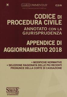 Codice di procedura civile annotato con la giurisprudenza. Appendice di aggiornamento 2018.pdf