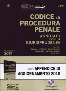 Codice di procedura penale annotato con la giurisprudenza-Appendice di aggiornamento 2018. Con CD-ROM.pdf