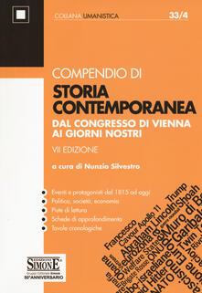 Promoartpalermo.it Compendio di storia contemporanea. Dal Congresso di Vienna ai giorni nostri Image