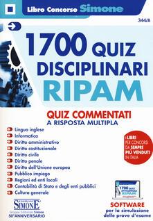 Promoartpalermo.it 1700 quiz disciplinari RIPAM. Quiz commentatia risposta multipla. Con software di simulazione Image