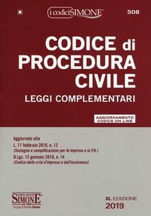 Festivalshakespeare.it Codice di procedura civile e leggi complementari. Con aggiornamento online Image