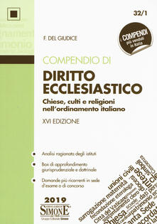 Daddyswing.es Compendio di diritto ecclesiastico. Chiese, culti e religioni nell'ordinamento italiano Image