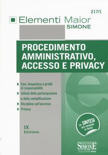 Procedimento amministrativo, accesso e privacy.pdf