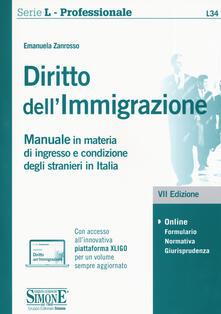 Daddyswing.es Diritto dell'immigrazione. Manuale in materia di ingresso e condizione degli stranieri in Italia. Con espansione online Image