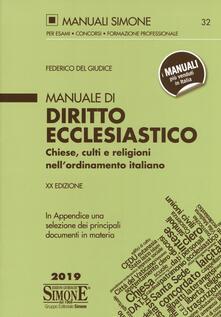 Equilibrifestival.it Manuale di diritto ecclesiastico. Chiese, culti e religioni nell'ordinamento italiano Image