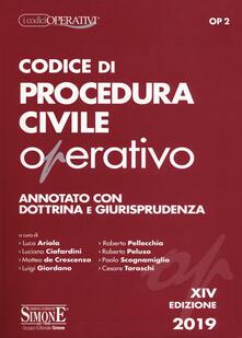 Promoartpalermo.it Codice di procedura civile operativo. Annotato con dottrina e giurisprudenza Image