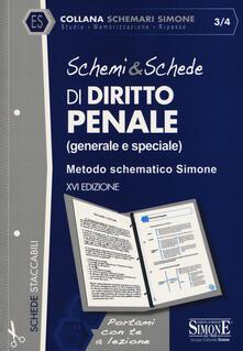 Promoartpalermo.it Schemi & schede di diritto penale (generale e speciale). Metodo schematico Simone Image