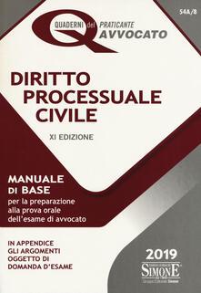 Ipabsantonioabatetrino.it Diritto processuale civile. Manuale di base per la preparazione alla prova orale dell'esame di avvocato Image