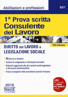Grandtoureventi.it Consulente del lavoro. 1ª prova scritta. Diritto del lavoro e legislazione sociale Image