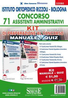 Promoartpalermo.it Istituto Ortopedico Rizzoli Bologna. Concorso 71 assistenti amministrativi. Kit di preparazione al concorso. Manuale + Quiz Image
