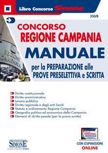 Daddyswing.es Concorso Regione Campania. Manuale per la preparazione alle prove preselettiva e scritta Image