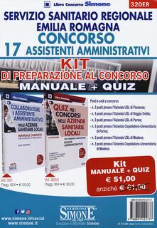 Ipabsantonioabatetrino.it Servizio Sanitario Regione Emilia Romagna. Concorso 17 Assistenti Amministrativi. Kit di preparazione al concorso. Manuale+Quiz Image