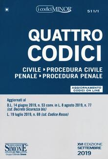 Festivalpatudocanario.es Quattro codici: Civile-Procedura civile-Penale-Procedura penale. Con aggiornamento online Image