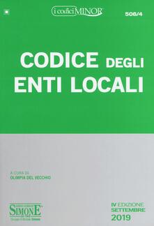 Voluntariadobaleares2014.es Codice degli enti locali. Ediz. minor Image