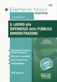 Il lavoro alle dipendenze della pubblica amministrazione.pdf