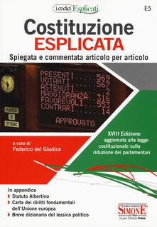 Fondazionesergioperlamusica.it Costituzione esplicata. Spiegata e commentata articolo per articolo Image
