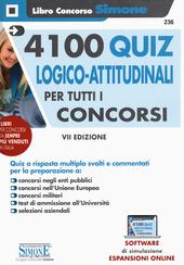 Copertina  4100 quiz logico-attitudinali per tutti i concorsi