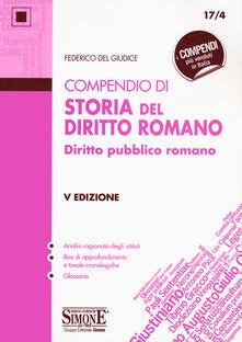 Capturtokyoedition.it Compendio di storia del diritto romano. Diritto pubblico romano Image