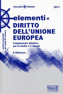 Secchiarapita.it Elementi di diritto dell'Unione Europea. Complemento didattico per lo studio e il ripasso Image