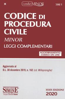 Codice di procedura civile. Leggi complementari. Ediz. minor. Con Contenuto digitale per download e accesso on line.pdf