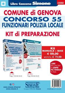 Antondemarirreguera.es Comune di Genova. Concorso 55 funzionari polizia locale. Kit di preparazione. Manuale + Quiz. Con software di simulazione Image