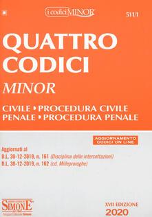 Ristorantezintonio.it Quattro codici. Ediz. minor. Con aggiornamento online Image