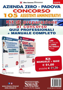 Premioquesti.it Azienda Zero Padova. Concorso 105 Assistenti Amministrativi. Kit di preparazione al concorso. Quiz professionali + Manuale completo Image