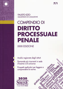 Tegliowinterrun.it Compendio di diritto processuale penale Image