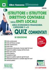 Copertina  Istruttore e istruttore direttivo contabile negli enti locali : area economico finanziaria, categorie C e D : quiz commentati