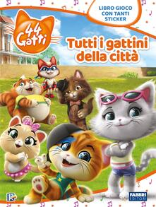 Voluntariadobaleares2014.es Tutti i gattini della città. 44 gatti. Libro gioco con adesivi. Ediz. a colori Image