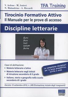 Winniearcher.com Tirocinio formativo attivo. Discipline letterarie Image