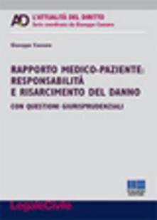Ristorantezintonio.it Rapporto medico-paziente. Responsabilità e risarcimento del danno Image